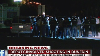 Man transported to hospital after deputy-involved shooting in Dunedin - Video