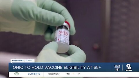 Ohio to hold vaccine eligibility at 65 years old and older