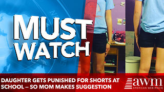 Daughter Gets Punished for Shorts at School — So Mom Suggests Principal Go Shopping With Them - Video