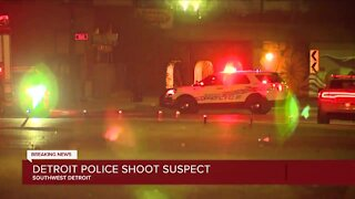 Detroit police shoot suspect in exchange of gunfire
