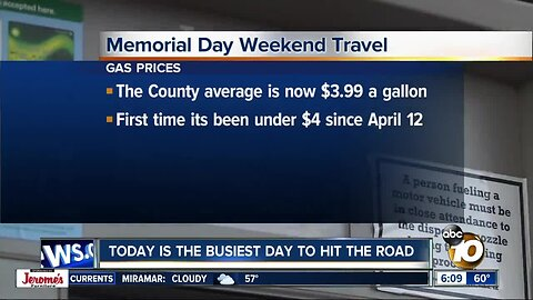 Today is the busiest day to travel for Memorial Day weekend