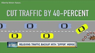 """Here's how """"zipper merging"""" could relieve traffic backups"""
