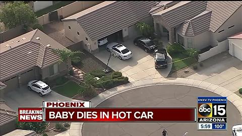 Baby dies in hot car in Phoenix