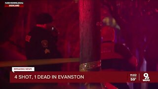 Four people shot, one fatally in Evanston Sunday evening