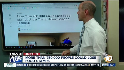 More than 750K could lose food stamps under Trump administration
