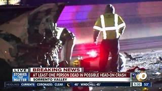 At least one person dead in Sorrento Valley crash - Video