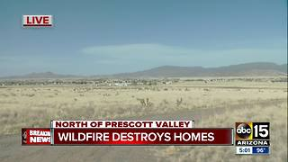 Viewpoint wildfire has destroyed two homes and is threatening structures - Video