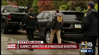 Suspect in custody, multiple dead after Pittsburgh synagogue shooting