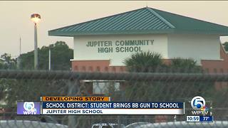 Student caught with BB gun at Jupiter High School - Video