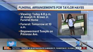 Funeral arrangements set for Friday for Taylor Hayes - Video