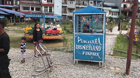 A knockoff 'Disneyland' amusement park in Nepal is full of rusty rides