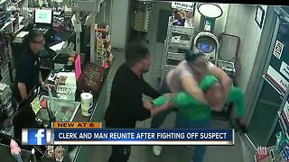 Florida gas station manager tackles shoplifter, thanks customer for stepping in - Video
