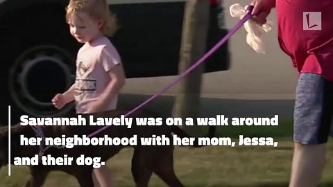 After Mom Collapses on Walk & Suffers Seizure, 3-Yr-Old Runs Across Neighborhood To Save Her Life