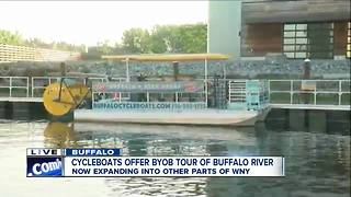 Community supper allows Buffalo CycleBoats to expand - Video