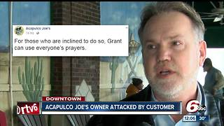 Acapulco Joe's owner attacked by customer - Video
