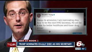President Trump nominates former Eli Lilly exec to HHS secretary - Video