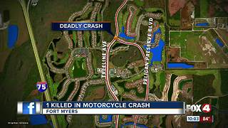 1 Killed in Motorcycle Crash - Video