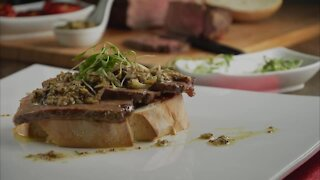 Chorizo Steak with Clam Sauce and Campaign Bread