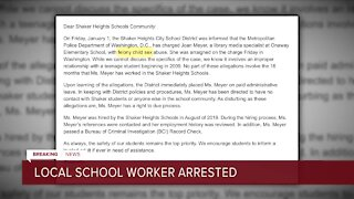 Shaker Heights City School District employee arrested on child sexual abuse charges in Washington, D.C.