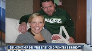Milwaukee woman delivers her own grandchild in family garage