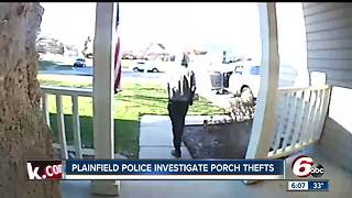 Plainfield police searching for porch pirates - Video