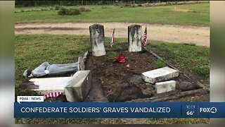 Confederate soldiers graves vandalized