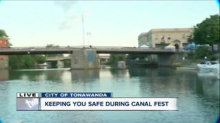 City of Tonawanda Police patrol streets & water during Canal Fest
