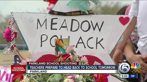 Stoneman Douglas High School teachers prepare to return to school Friday