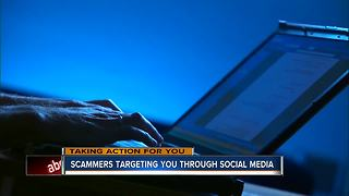 Scammers targeting through social media - Video