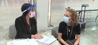 Health officials discuss COVID-19 vaccine clinic at Las Vegas Convention Center