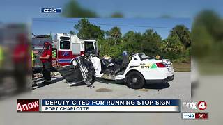 Two Injured in Deputy Involved in Crash - Video