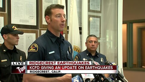 Kern County Fire Department holds press conference to update earthquake recovery efforts