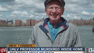 Friends speak out about murdered professor - Video