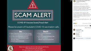 Warning about COVID-19 vaccination scam