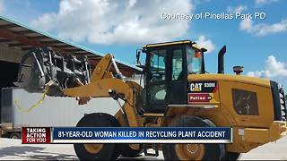 82-year-old woman dies after recycling plant accident - Video