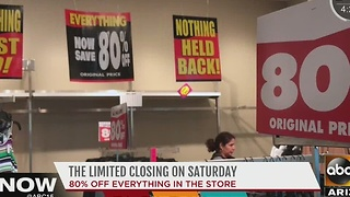 The Limited store closing - Video