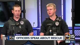 Mesa officers talk about rescuing woman from apartment fire - Video