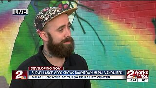 Artist behind vandalized Equality Center mural speaks out