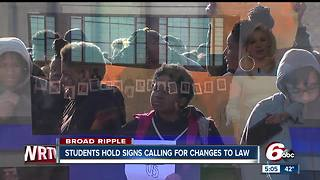 Hundreds of Broad Ripple High School students join National Walkout movement - Video