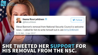 Republican Congresswoman Says Bannon's Removal From NSC Is 'Welcome News' - Video