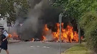 Truck Bursts Into Flames After Crash in Singleton - Video