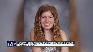 Volunteers still needed to search for evidence from Jayme Closs' disappearance