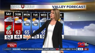 Scattered showers continue Saturday morning