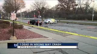 1 dead, 2 injured in crash involving wrong way driver on Milwaukee's south side - Video
