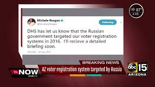 Russia targeted Arizona voter registration system in 2016 - Video