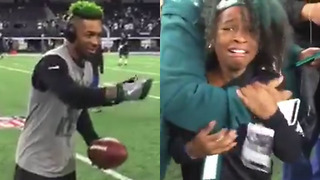 Jalen Mills Makes a Young Eagles Fan CRY - Video
