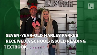 Little Girl Sees Familiar Name Inside Textbook, Realizes She Has Country Superstar's Hand-Me-Down - Video