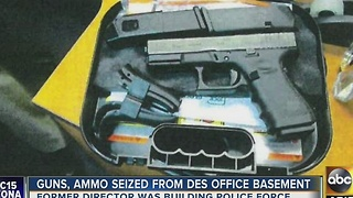 Guns, ammo seized from DES office basement - Video