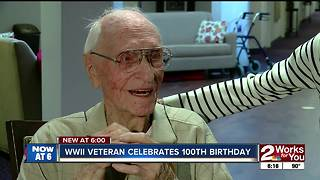 WWII veteran turns 100 - Video