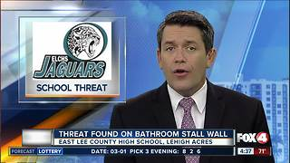 Threat found on bathroom stall at East Lee County High School - Video